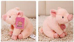 Pequenos brinquedos de fazenda on-line-LNL Porco Leitão Pelúcia Macia Brinquedo Rosa Preto Recheado Teddy Pequeno Animal De Fazenda Crianças Adultos