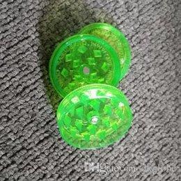 Molinillos de acrílico online-40 mm amoladora fumar grinde molinillos de acrílico amoladora plástica mezcla de 3 partes de colores más barato hierba amoladora colores rando