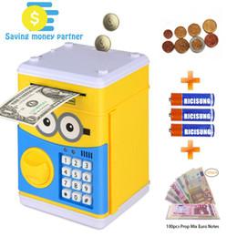scarafaggi di plastica Sconti Cartoon elettronico Piggy Bank, sportello password Money Bank contanti Can scorrimento automatico soldi di carta per il regalo di Natale dei bambini