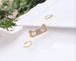 joyería en forma de gato de plata Rebajas joyería de lujo pendientes S925 pendientes de plata forma de aguja gato asimétrico encanto del perno prisionero de la moda de las mujeres calientes