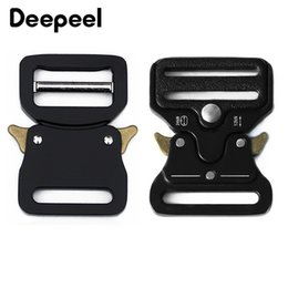 backpack clasp Promo Codes - Deepeel 33mm Metal Quick Side Release Buckles Alloy Black Outdoor Belt Backpack Webbing Clasp Hook Clips Hardware DIY Accessory