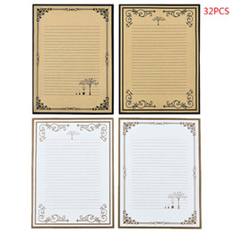 Note cinesi online-32pcs / pack Retro Writing Letter Stationery romantico creativo di stile cinese pizzo intestata Nota di carta
