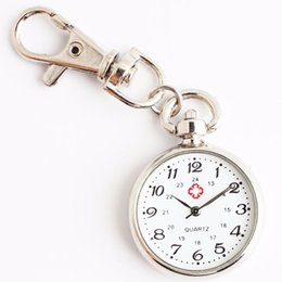 серебряные медицинские прелести Скидка Doctor Medical Simple Style FOB Watches Silver Charming Key Chin Ring Pocket Watch 2019 New Fashion Nurse Pocket Quartz Watch