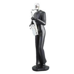 Classique Musique Band Figurines Résine Art Saxophone Joueur Musicien Figurine Home Office Salon Décoration Cadeaux ? partir de fabricateur