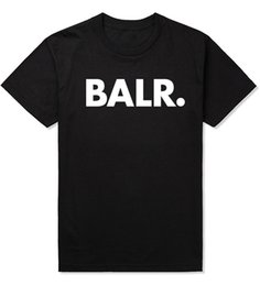 Camiseta de hombre BALR manga corta cuello redondo suelta manga corta de algodón personalidad de los hombres camiseta de los hombres desde fabricantes