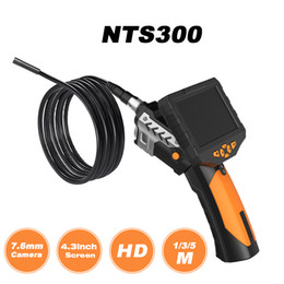 "3m kamera online-4.3"" LCD Digital HD-Schlange-Kamera 7.6mm Abflussrohr Inspection-Endoskop-Draht-Sonde Wasserdichte Kamera 1M / 3M / 5M Kabel"