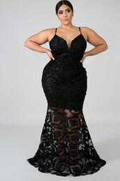 Mermaid maxi dresses online-JRRY Sexy Tallas grandes Mujeres Maxi Vestidos Correa de espagueti Vestido Jacquard Weave Sirena Maxi Vestido ahueca hacia fuera Vestidos largos