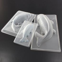 strumenti di pesca 3d Sconti Commercio all'ingrosso- Carpa Ciprinidi Pesce 3D Torta Stampo per Cioccolato Gelatina Sugarcraft Stampo per utensili Cucina