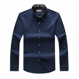 Camisas de hombre de tamaño pequeño online-2019 Otoño e invierno a cuadros Camisa de manga larga para hombre de gran tamaño para hombres del Reino Unido Marca POLO Camisas Camisa de negocios Oxford Ropa de caballo pequeño S-3XL