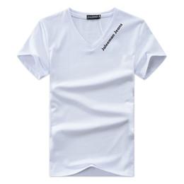 V neck shirts mens on-line-Designer de V-Neck T Shirts Para Homens Tops Carta Bordado T Shirt Dos Homens de Roupas de Marca de Manga Curta Tshirt Mulheres Tops XS-4XL