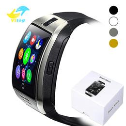 Batterie sim en Ligne-Q18 Bluetooth Smart Watch avec écran tactile grande batterie de soutien TF Sim caméra caméra pour iphone Android Phone Smartwatch