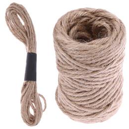 Canada 5m / 13.7m corde de jute doux boîte de cadeau de ficelle de jute naturelle ficelle corde corde artisanale florale mariage étiquettes Wrap Decor Offre