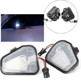 Luz led para espejo lateral de carro online-Auto Car Error Free LED Side Mirror Puddle luces para Vw Volkswagen EOS Passat / 4motion / Santana B7 CC Scirocco piezas de automóvil