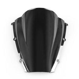 2019 kawasaki ninja pára-brisas Areyourshop motocicleta do pára-brisa pára-brisas duplo bolha Para Honda CBR600RR 03-04 CBR 600 RR Preto E2 EUA Motorbike Covers Styling