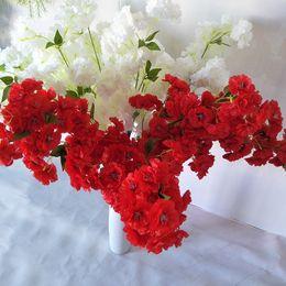 alberi fioriscono all'ingrosso Sconti Simulazione variopinta Cherry Blossom Commercio all'ingrosso Simulazione Wedding Cherry Blossom Studio Decorazione Alberi Arco Artificiale Fl