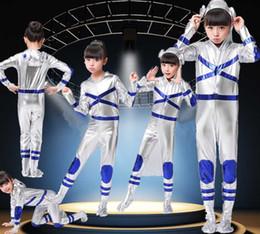 2020 costume del robot Childs bambini Space Boy Man tuta da astronauta Costume Outfit spazio spettacolo di danza prestazioni del robot astronauta sconti costume del robot