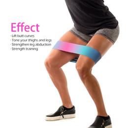 Ноги тренировочные резинки онлайн-Унисекс Booty Band хип круг цикл сопротивление группы тренировки Упражнения для ног бедра ягодицы прикладом приседания полосы нескользящей дизайн