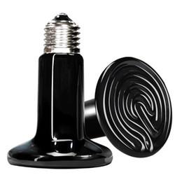 Calor Emissor Basking Bulb cerâmica 25W / 50W / 75W / 100W / 150W / 200W Reptile Infrared Aquecedor Lâmpada para répteis e anfíbios do animal de estimação de