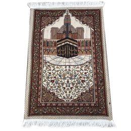 70 * 110 cm fina Islâmico Muçulmano Oração Mat Salat Musallah Tapete De Oração Tapis Tapete Tapete Banheiro Islâmico Praying Mat de