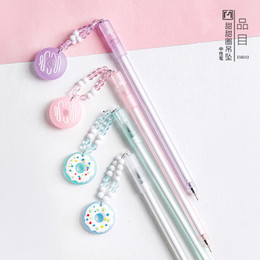 plastic doughnut Coupons - 1 pcs Lovely Doughnuts Style Gel Ink Pen Promotional Gift Stationery School & Office Supply