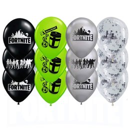Wholesale Party Supplies - 6 Styles Fortnite 12 Inch Latex Balloons Wedding Decoration Centerpeices Party Supplies Gifts Items Toys for Adults