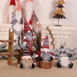 2019 boneca mini para homens 20/30 CM Floresta Anão Old Man Boneca de Árvore De Natal Pingente de Mini Cabide de Boneca Ano Novo Decoração Presente Da Janela Das Crianças Presente desconto boneca mini para homens