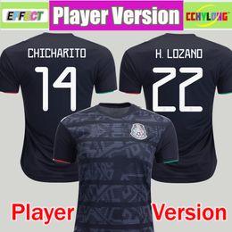 Version 2019 du joueur maillot de football de la Coupe du Monde de Football du Mexique 2019 Noir 19/20 CHICHARITO LOZANO GUARDADO CARLOS VELA RAUL ? partir de fabricateur