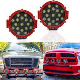 7 pulgadas 51 W LED de luz de trabajo redondo PUNTO Off-road niebla conducción para Jeep 4WD barco offroad camión tractor ATV SUV UAZ auto 4WD 4x4 lámpara desde fabricantes