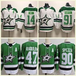 96b6474d6 Dallas Stars Ice Hockey 47 Radulov 14 Jamie Benn 90 Jason Spezza 91 Tyler  Seguin 30 Ben Bishop Stitched White Green Jerseys S-3XL