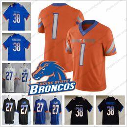 Custom Boise State Broncos Football Jerseys Any Name Number  38 Leighton  VanderEsch 22 Alexander Mattison 4 Brett Rypien 1 Wilson Jr. S-3XL f6770ed6f