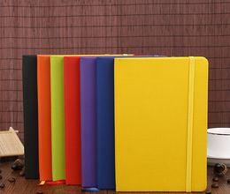 2019 livro em capa dura A5 Notebook Notepads Capa Dura Design Clássico PU Rendas De Couro com Fecho De Borracha Banido Estudo Escritório Em Casa