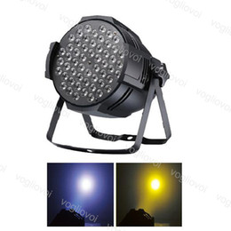 Luce disco fase 3w online-PAR LUCE 180W 54LED * 3W RGBW High Power 8ch DMX512 Voice Attivato per Disco DJ Stage Lighting Christmas Party Effect ABS DHL