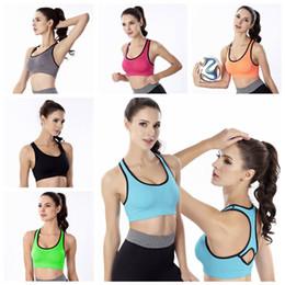 Il reggiseno scivola online-Senza soluzione di continuità Yoga Yoga Reggiseno sportivo Fitness allenamento imbottito Bounce Control Gym antiscivolo Elastico Force antiurto Vest AAA2032