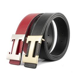 jeans cinto vermelho Desconto Designer de luxo H Marca Designer Cintos Homens de Alta Qualidade Masculino Genuíno Couro Real Cinto Das Mulheres H Fivela Strap para Jeans Vermelho