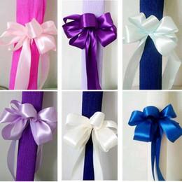Articles de fête décorations de mariage royal en Ligne-bleu royalSilk Satin Ruban avec de l'or Wedding Party Décoration Emballage Cadeau Noël Nouvel An Décor Fournitures
