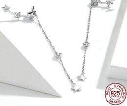 Acqua di conchiglia online-TE1 Design Orecchini ad acqua per donna Clear CZ Orecchini a bottone in argento sterling 925 Gioielli di moda coreana
