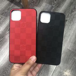 fundas de galaxia alfa Rebajas Caja del teléfono de lujo del diseñador para iPhone 11 Pro Max XS XR X 8 7 más la caja de la manera de celosía suave de la cubierta Funda