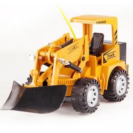 Voiture de canal de rc en Ligne-Simulation de véhicule de contrôle à distance 5 modèles de voiture modèle de voiture jouets 2.4G RC Bulldozer Truck Toy