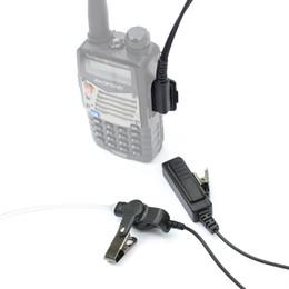 2019 micrófono para auriculares kenwood 2Pin Covert Air Tube PTT Mic Auricular Auricular Auricular para KENWOOD BaoFeng UV-5R BF-888s Retevis H777 RT22 DM-1801 Walkie Talkie de DHL rebajas micrófono para auriculares kenwood