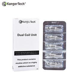 Kanger genitank mega bobinas online-10 unids / lote Kanger bobinas dobles para Aero Mega Protank 3 EMOW Genitank atomizador 1.0ohm 1.2 bobina Kangertech E-cigarrillo