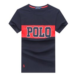 long sleeve polo style shirts Promo Codes - Men Polo Shirt FashionLetter Prints Male Business T Shirt Summer Style Short Sleeve Casual Mens Designer T Shirts