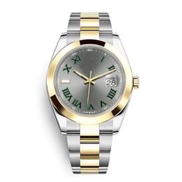 Reloj número de acero online-Número romano para hombre Reloj Nuevo Verde Mecánico Movimiento automático de acero inoxidable Reloj deportivo Relojes automáticos Relojes de pulsera 6 colores Montre