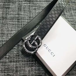 2018 moda de alta calidad de cuero real Aollyt liso hebilla cinturones hombres diseño cinturones más nuevo estilo de alta marca cinturillas sin caja jos88a desde fabricantes