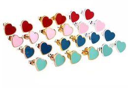 orecchini a forma di Sconti 2019 Nuovi orecchini di lusso Designer Stud in acciaio al titanio Moda S925 Orecchini a forma di cuore Orecchini Spedizione gratuita