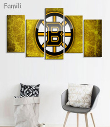 5 Paneles Montreal Canadiens Profesional Equipo de Hockey Sobre Hielo Hogar Moderno Decoración de Pared Lienzo Imagen Arte HD Imprimir Pintura Arte de la Lona desde fabricantes