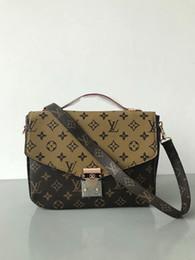 China LOUIS VUITTON genuine leather women s Brown message handbag pochette  Metis shoulder bags crossbody Retro bags 4da08aa73ef84