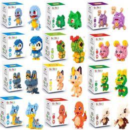 brinquedos para 13 anos meninos Desconto Bolso MonsterKoffing Psyduck Poliwhirl Meowth Mudkip Piplup Diamante Mini Building Blocks Toy Figuras Anime Crianças Brinquedos BB C