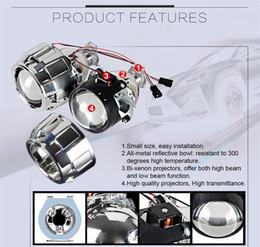 2019 lente h1 Car Styling Mini 2.5 pulgadas WST HID Bi xenon Linterna Proyector Lente Retrofit DIY H7 H4 Lentes de los faros, uso H1 Bombillas lente h1 baratos