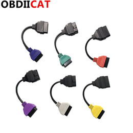 2019 dc amp-lehren Neueste 6 Farbe FiatECUScan OBD2 Verbindungsdiagnoseadapterkabel Multiecuscan für F-iat ABS Airbag obd2 Scanner Diagnose
