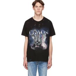 Magliette di stampa dragon online-T-shirt 19SS AM1R1 City Dragon T-Shirt con logo stampato T-Shirt da uomo Donna Estate Strada Lavata Vintage Manica corta Moda casual Tee HFLSTX494